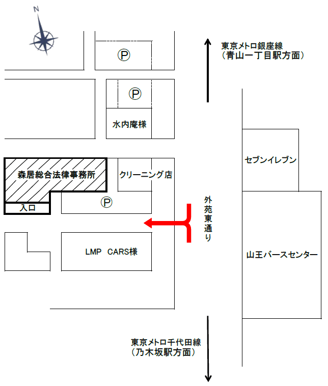 事務所ビル前地図